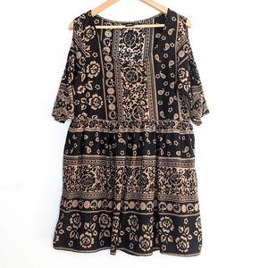 ASOS Paisley Cold Shoulder Mini Dress Size 12
